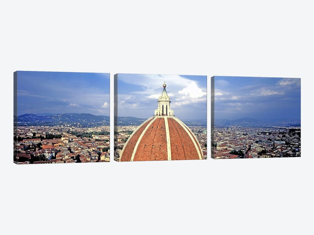 High section view of a churchDuomo Santa Maria Del Fiore, Florence, Tuscany, Italy by Panoramic Images 3-piece Canvas Artwork