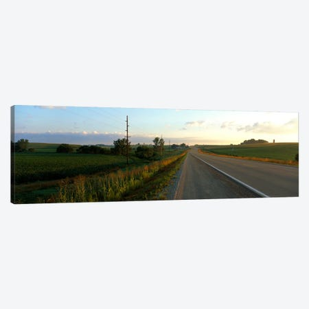 Highway Eastern IA Canvas Print #PIM738} by Panoramic Images Canvas Wall Art