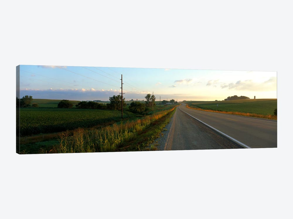 Highway Eastern IA by Panoramic Images 1-piece Canvas Wall Art