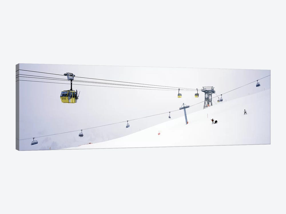 Ski lifts in a ski resortArlberg, St. Anton, Austria by Panoramic Images 1-piece Canvas Print