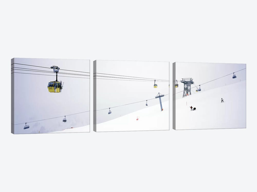 Ski lifts in a ski resortArlberg, St. Anton, Austria by Panoramic Images 3-piece Canvas Art Print