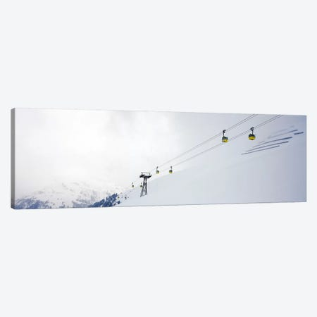 Ski lifts in a ski resort, Arlberg, St. Anton, Austria Canvas Print #PIM7395} by Panoramic Images Canvas Artwork