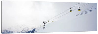 Ski lifts in a ski resort, Arlberg, St. Anton, Austria Canvas Art Print