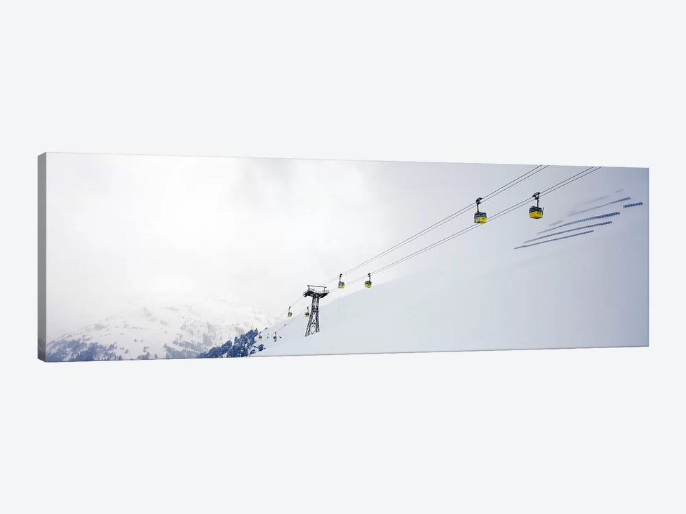 Ski lifts in a ski resort, Arlberg, St. Anton, Austria by Panoramic Images 1-piece Canvas Wall Art
