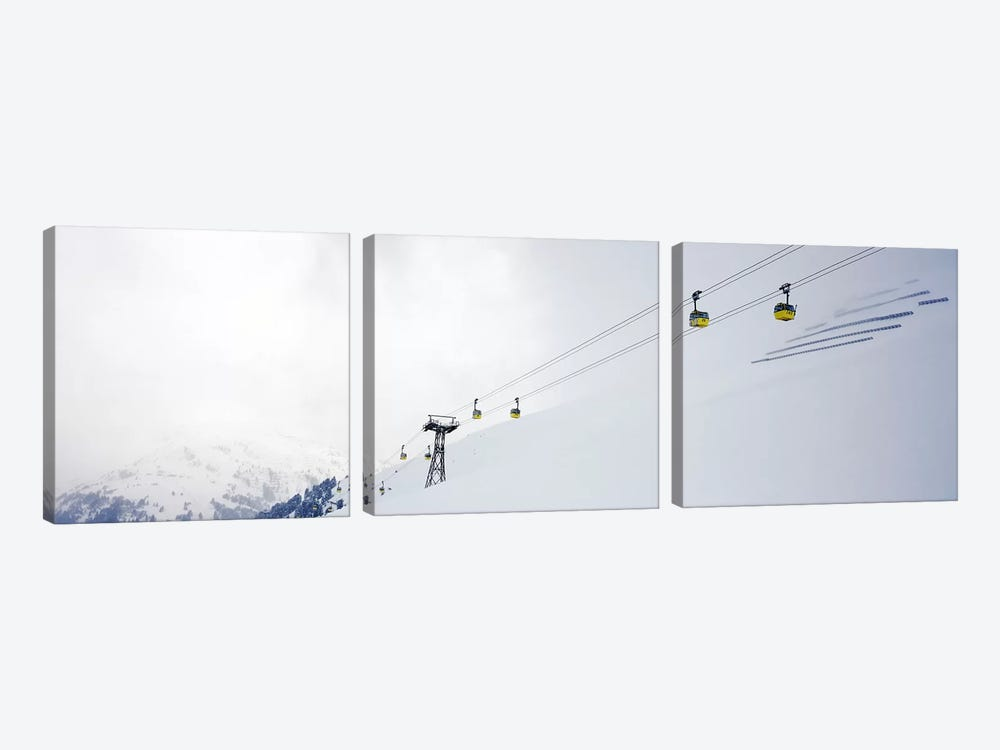 Ski lifts in a ski resort, Arlberg, St. Anton, Austria by Panoramic Images 3-piece Canvas Wall Art