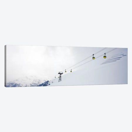 Ski lifts in a ski resort, Arlberg, St. Anton, Austria Canvas Print #PIM7395} by Panoramic Images Canvas Artwork