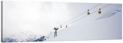 Ski lifts in a ski resort, Arlberg, St. Anton, Austria Canvas Art Print