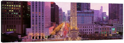 Twilight, Downtown, City Scene, Loop, Chicago, Illinois, USA Canvas Print #PIM739