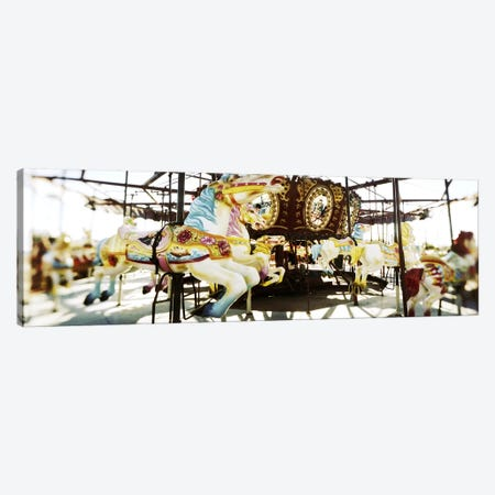 Close-up of carousel horsesConey Island, Brooklyn, New York City, New York State, USA Canvas Print #PIM7400} by Panoramic Images Canvas Print