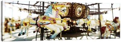 Close-up of carousel horsesConey Island, Brooklyn, New York City, New York State, USA Canvas Print #PIM7400