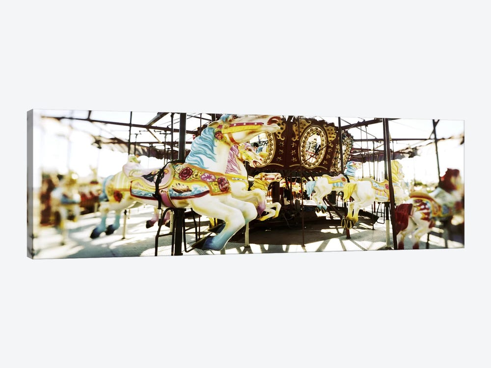 Close-up of carousel horsesConey Island, Brooklyn, New York City, New York State, USA by Panoramic Images 1-piece Art Print