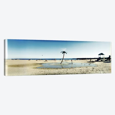Palm tree sprinkler on the beachConey Island, Brooklyn, New York City, New York State, USA Canvas Print #PIM7401} by Panoramic Images Canvas Art Print