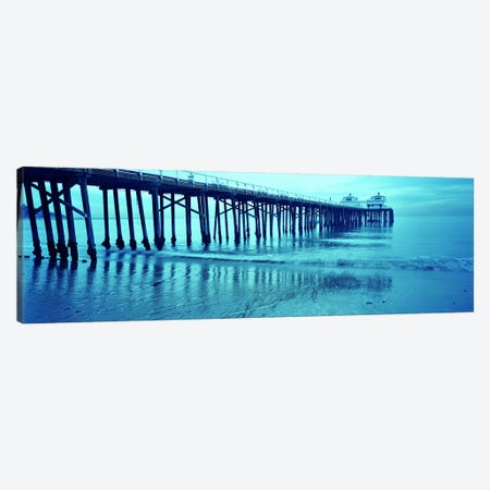 Pier at sunset, Malibu Pier, Malibu, Los Angeles County, California, USA Canvas Print #PIM7403} by Panoramic Images Canvas Art Print