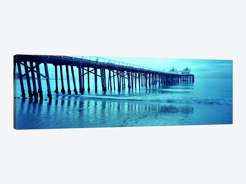 Pier at sunset, Malibu Pier, Malibu, Los Angeles County, California, USA by Panoramic Images 1-piece Canvas Wall Art