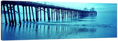 Pier at sunset, Malibu Pier, Malibu, Los Angeles County, California, USA Canvas Art Print