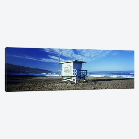 Lifeguard hut on the beach, Torrance Beach, Torrance, Los Angeles County, California, USA Canvas Print #PIM7404} by Panoramic Images Canvas Wall Art