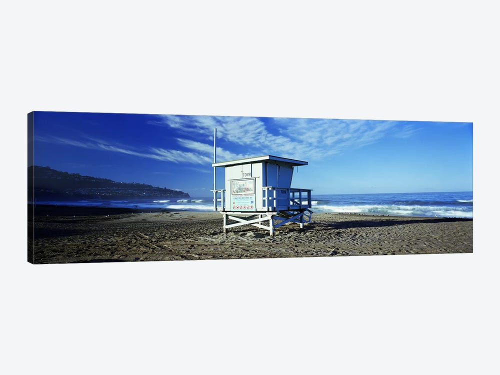 Lifeguard hut on the beach, Torrance Beach, Torrance, Los Angeles County, California, USA by Panoramic Images 1-piece Canvas Art Print