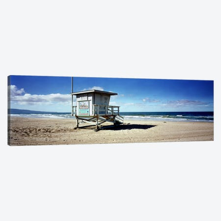 Lifeguard hut on the beach8th Street Lifeguard Station, Manhattan Beach, Los Angeles County, California, USA Canvas Print #PIM7405} by Panoramic Images Canvas Wall Art