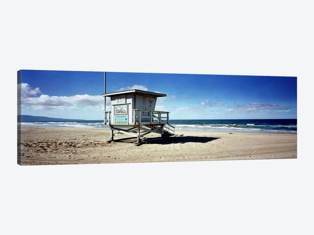 Lifeguard hut on the beach8th Street Lifeguard Station, Manhattan Beach, Los Angeles County, California, USA by Panoramic Images 1-piece Canvas Artwork