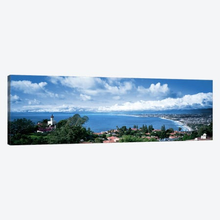 City at the coast, Palos Verdes Peninsula, Palos Verdes, Los Angeles County, California, USA Canvas Print #PIM7406} by Panoramic Images Canvas Art