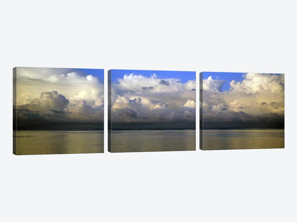 Clouds over the sea by Panoramic Images 3-piece Canvas Artwork