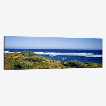 Waves breaking on the beach, Western Australia, Australia Canvas Print #PIM7411} by Panoramic Images Canvas Wall Art