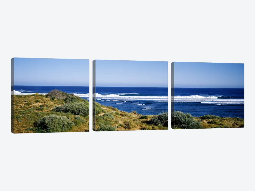 Waves breaking on the beach, Western Australia, Australia by Panoramic Images 3-piece Canvas Art Print