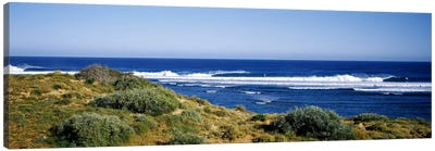 Waves breaking on the beach, Western Australia, Australia Canvas Art Print