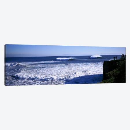 Cresting Ocean Waves, Santa Cruz County, California, USA Canvas Print #PIM7415} by Panoramic Images Canvas Print