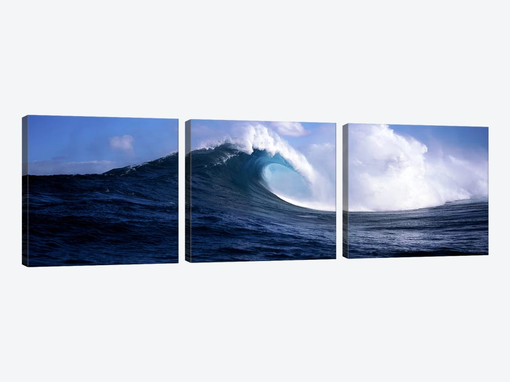 Plunging Breaker, Maui, Hawai'i, USA 3-piece Canvas Artwork