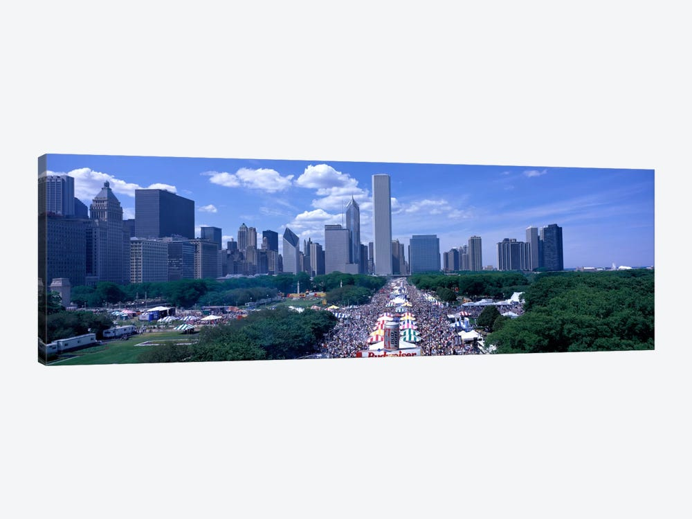 Taste of Chicago Chicago IL by Panoramic Images 1-piece Canvas Wall Art