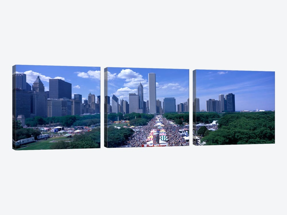 Taste of Chicago Chicago IL by Panoramic Images 3-piece Canvas Artwork