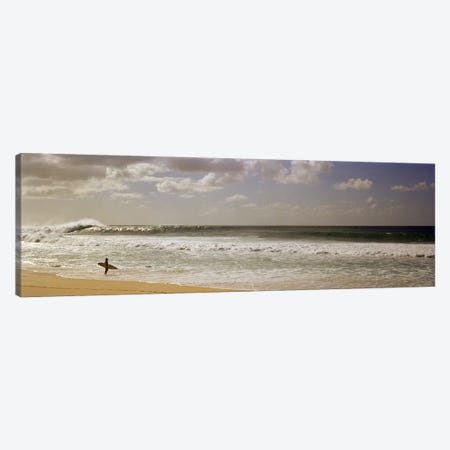 Lone Surfer, North Shore, O'ahu, Hawai'i, USA Canvas Print #PIM7421} by Panoramic Images Canvas Art Print