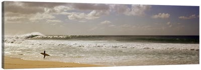 Lone Surfer, North Shore, O'ahu, Hawai'i, USA Canvas Print #PIM7421