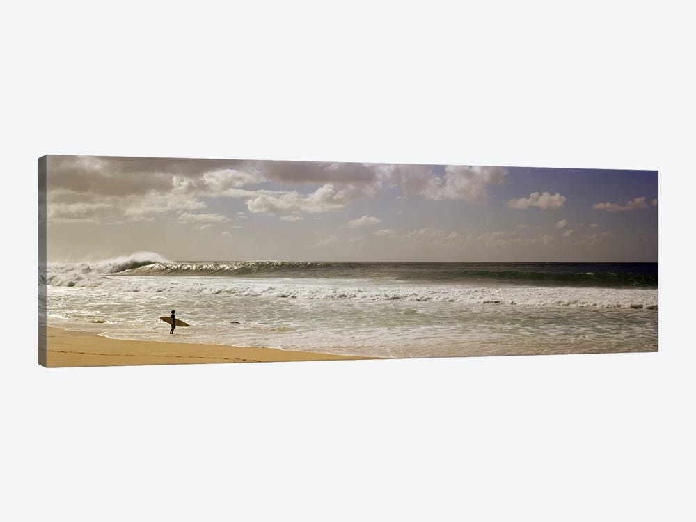 Lone Surfer, North Shore, O'ahu, Hawai'i, USA by Panoramic Images 1-piece Canvas Art