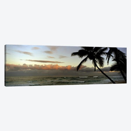 Cloudy Seascape Sunset Canvas Print #PIM7422} by Panoramic Images Art Print