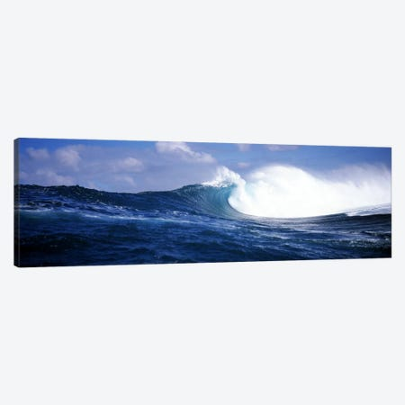 Close-Up Of A Breaking Ocean Wave Canvas Print #PIM7425} by Panoramic Images Canvas Wall Art