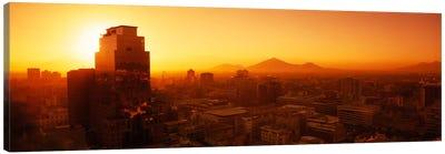 Majestic Orange Sunset, Santiago, Chile Canvas Art Print