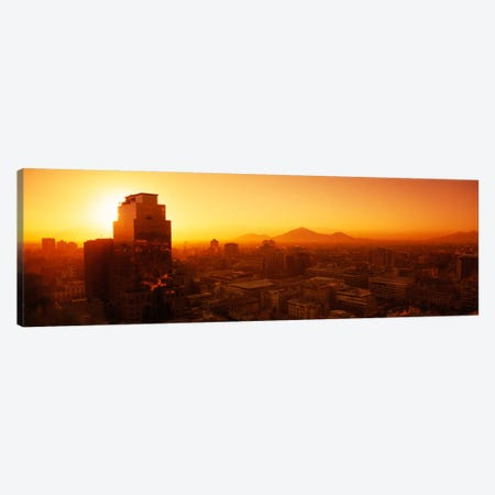 Majestic Orange Sunset, Santiago, Chile Canvas Print #PIM742} by Panoramic Images Art Print