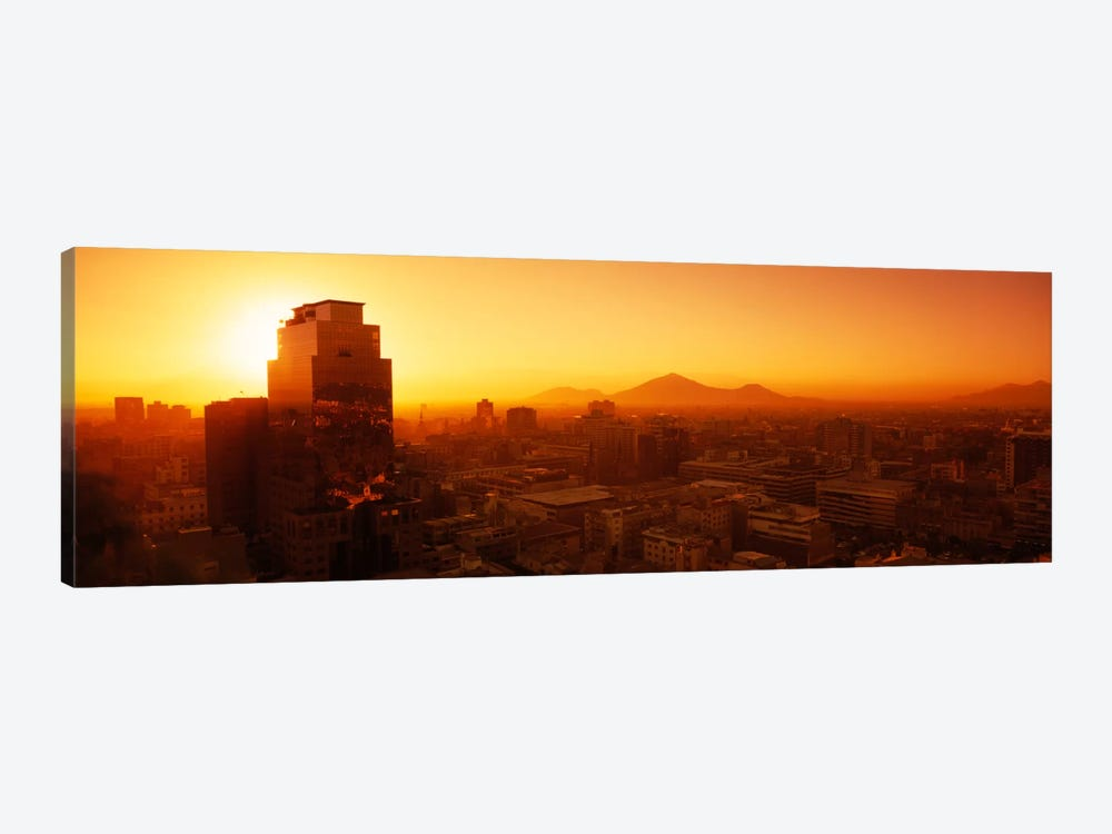 Majestic Orange Sunset, Santiago, Chile by Panoramic Images 1-piece Canvas Art Print
