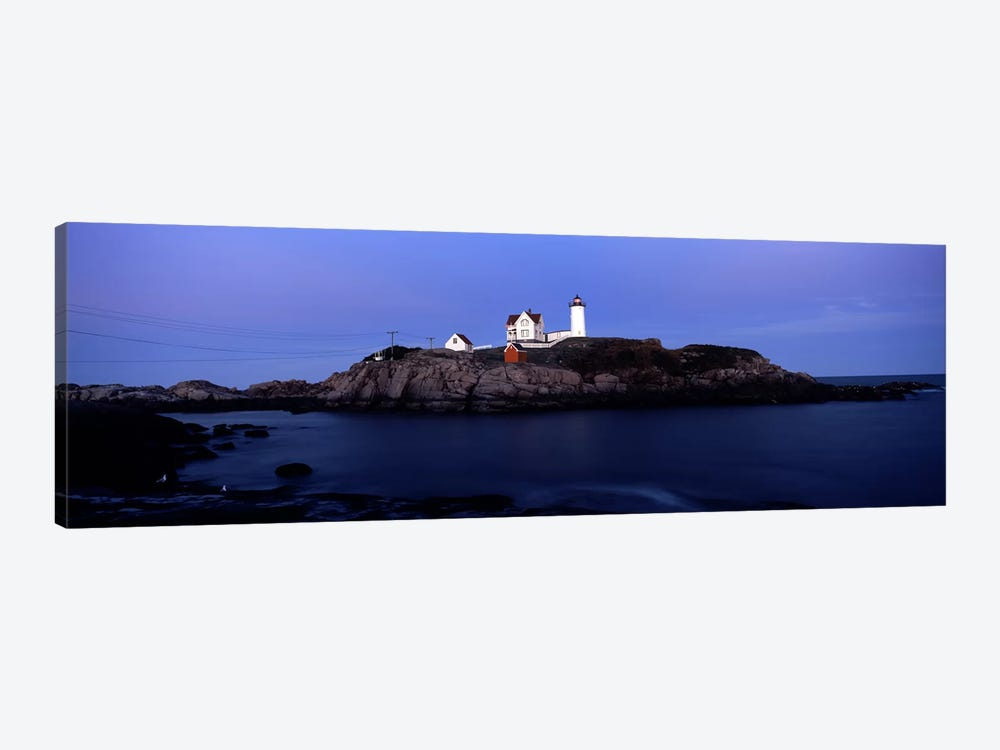 Cape Neddick Light (The Nubble), Nubble Island, York County, Maine, USA by Panoramic Images 1-piece Canvas Art