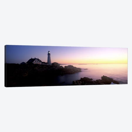 Lighthouse on the coast, Portland Head Lighthouse built 1791, Cape Elizabeth, Cumberland County, Maine, USA Canvas Print #PIM7434} by Panoramic Images Art Print