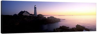 Lighthouse on the coast, Portland Head Lighthouse built 1791, Cape Elizabeth, Cumberland County, Maine, USA Canvas Art Print