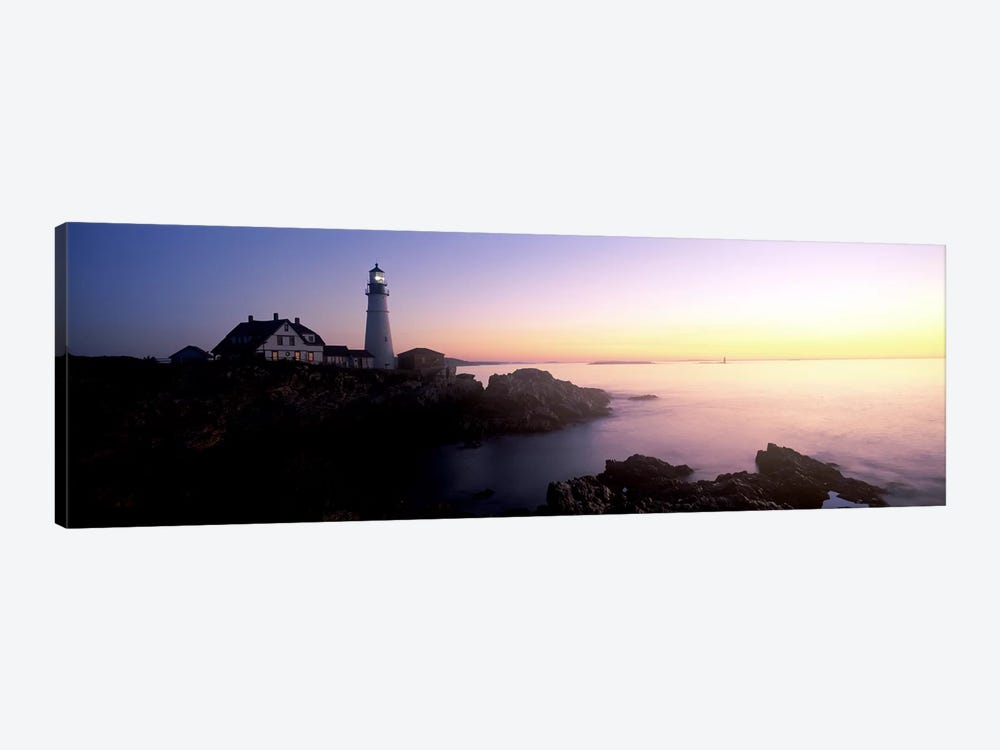 Lighthouse on the coast, Portland Head Lighthouse built 1791, Cape Elizabeth, Cumberland County, Maine, USA by Panoramic Images 1-piece Canvas Artwork