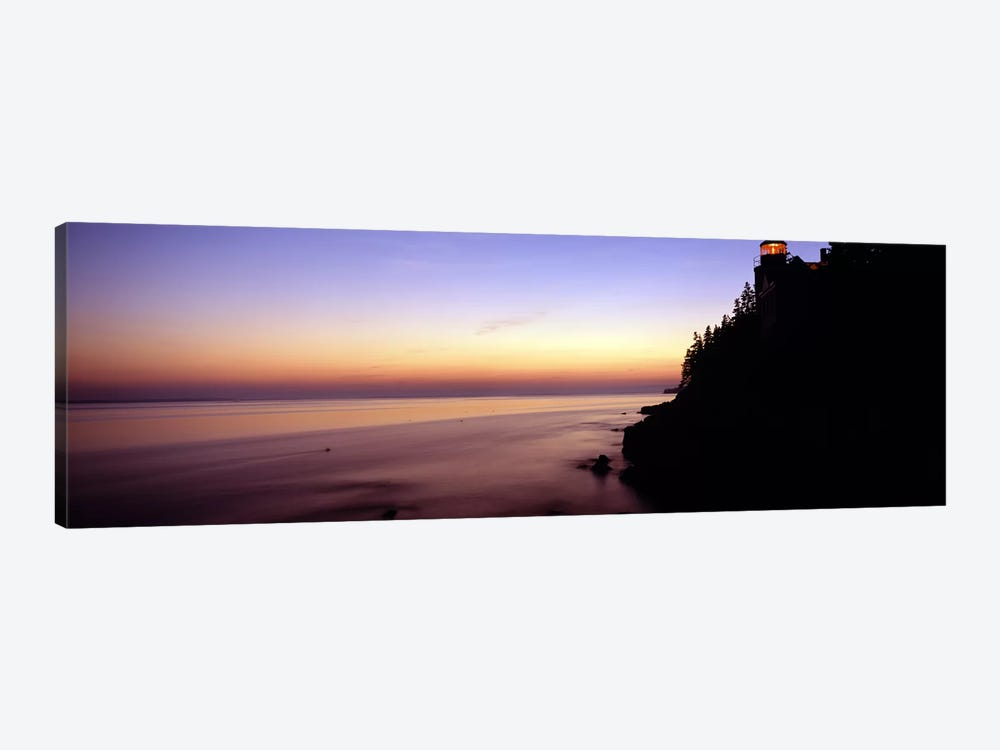 Pastel Seascape Sunset, Bass Harbor, Hancock County, Maine, USA by Panoramic Images 1-piece Canvas Art