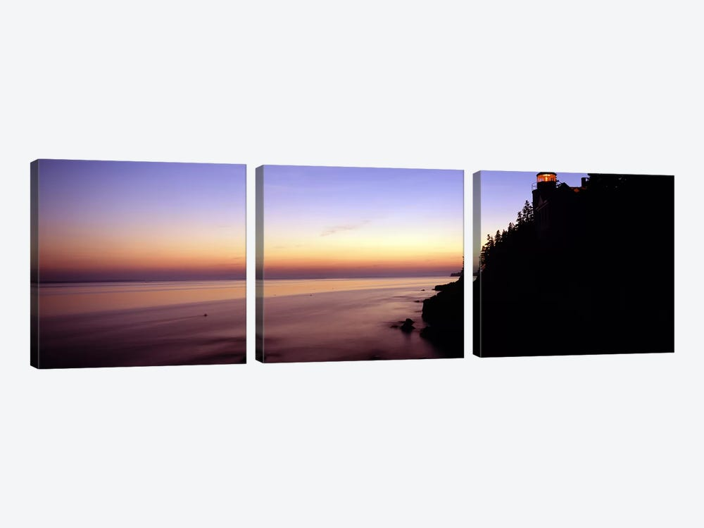 Pastel Seascape Sunset, Bass Harbor, Hancock County, Maine, USA by Panoramic Images 3-piece Canvas Art