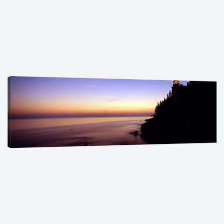 Pastel Seascape Sunset, Bass Harbor, Hancock County, Maine, USA Canvas Print #PIM7441} by Panoramic Images Art Print