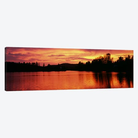 Lake at sunset, Vermont, USA Canvas Print #PIM7443} by Panoramic Images Canvas Print