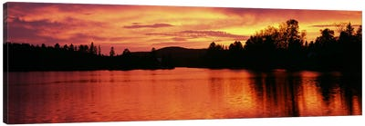 Lake at sunset, Vermont, USA Canvas Art Print