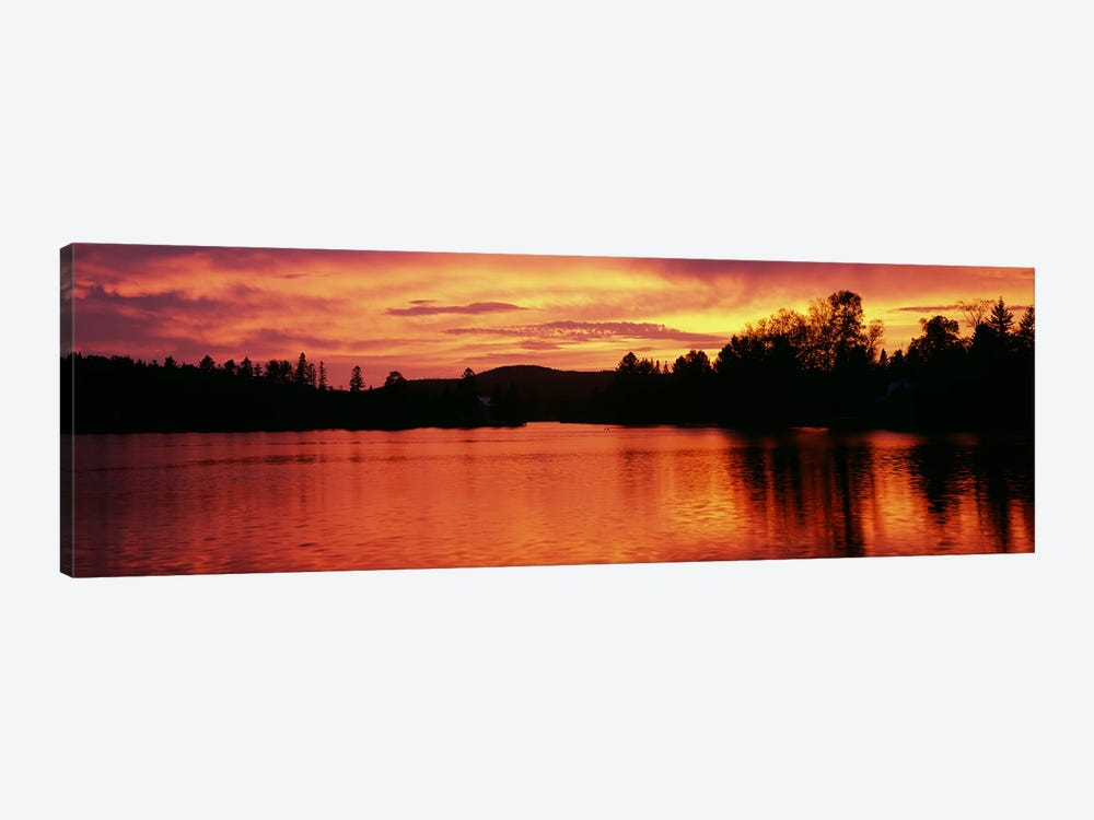 Lake at sunset, Vermont, USA by Panoramic Images 1-piece Canvas Wall Art